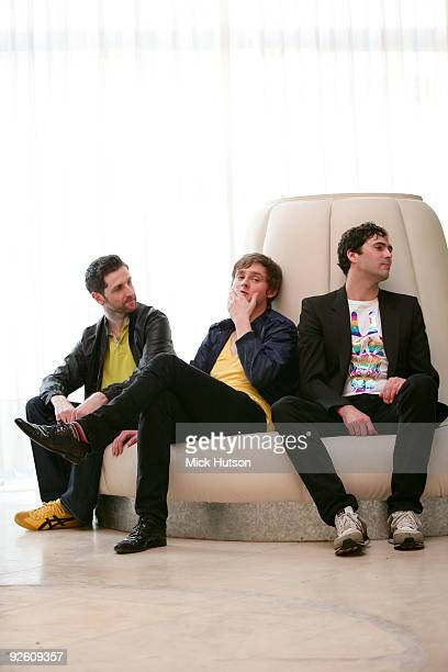 Richard Hughes, Tom Chaplin and Tim Rice-Oxley of Keane pose for a group portrait on March 7th, 2009 in Buenos Aires, Argentina.
