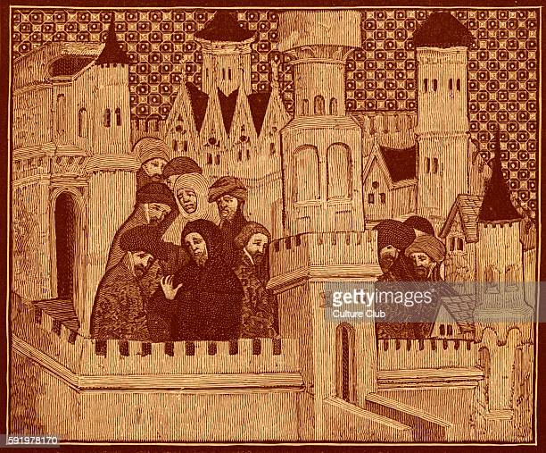 Richard II consulting with his friends in Conway Castle North Wales c1319 Richard II King of England