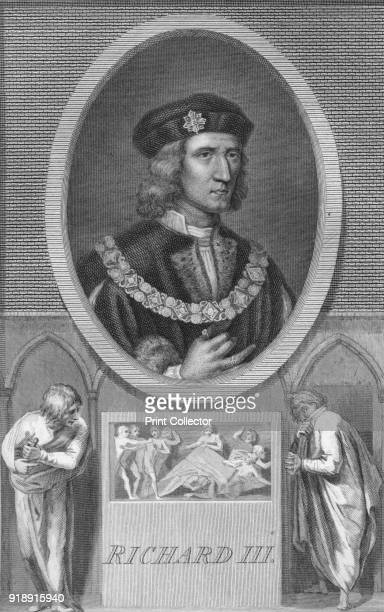 Richard III', 1788. Richard III , King of England from 1483 until his death in 1485, at the age of 32, in the Battle of Bosworth Field. From The...