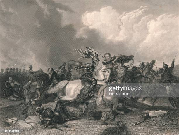 'Richard III and the Earl of Richmond at the Battle of Bosworth' The Battle of Bosworth Field fought on 22 August 1485 was the last significant...