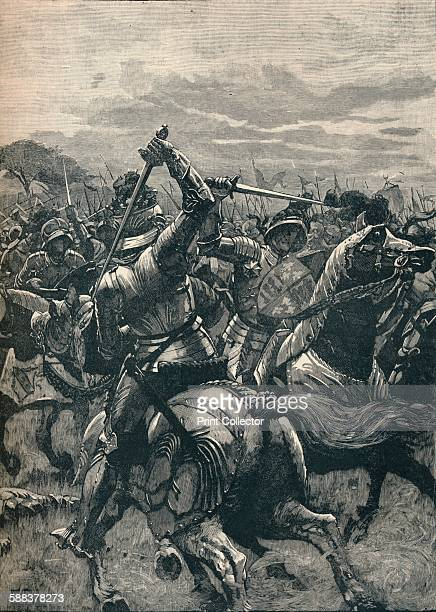 Richard III at the Battle of Bosworth 1485 From Cassell's History of England Vol II