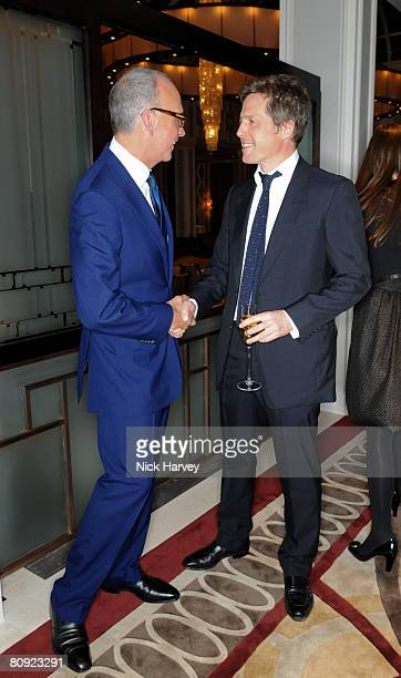 Richard James and Hugh Grant attend James' 15th anniversary party hosted by GQ editor Dylan Jones on April 29 2008 at The Lanesborough in London...