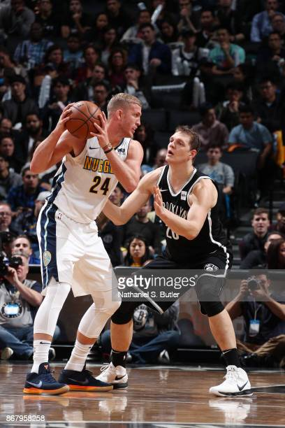 Richard Jefferson of the Denver Nuggets handles the ball against the Brooklyn Nets on October 29 2017 at Barclays Center in Brooklyn New York NOTE TO...