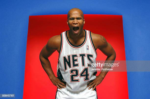 Richard Jefferson of the New Jersey Nets poses during the Nets Media Day on October 3 2005 in East Rutherford New Jersey NOTE TO USER User expressly...