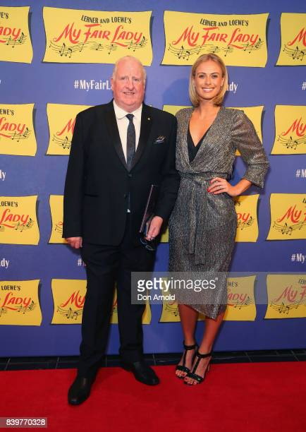 Richard Jeffreys and Sylvia Jeffreys arrive ahead of My Fair Lady premiere at Capitol Theatre on August 27 2017 in Sydney Australia