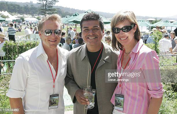 Richard Jenik, George Lopez and Allison Janney during General Motors at Concours D'Elegance at Pebble Beach in Pebble Beach, California, United...