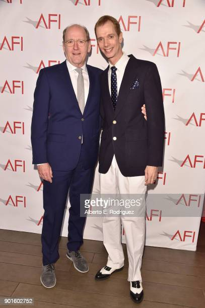 Richard Jenkins and Doug Jones attend the 18th Annual AFI Awards at Four Seasons Hotel Los Angeles at Beverly Hills on January 5 2018 in Los Angeles...