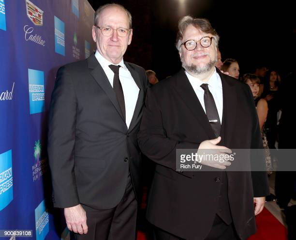 Richard Jenkins and Guillermo del Toro attends the 29th Annual Palm Springs International Film Festival Awards Gala at Palm Springs Convention Center...