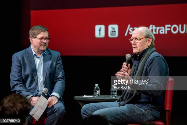 Richard Jenkins and moderator Bruce Fretts discuss 'The Shape Of Water' during SAGAFTRA Foundation Conversations at The Robin Williams Center on...