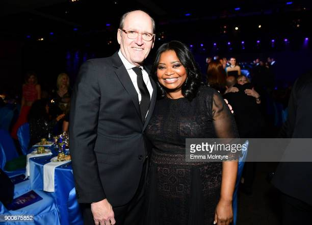 Richard Jenkins and Octavia Spencer attend the 29th Annual Palm Springs International Film Festival Awards Gala at Palm Springs Convention Center on...