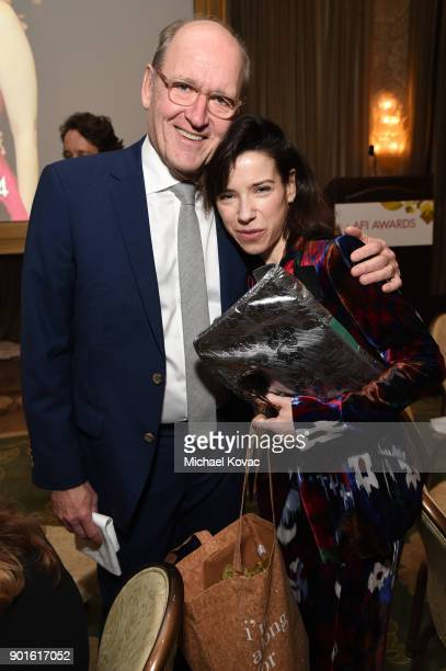 Richard Jenkins and Sally Hawkins attend the 18th Annual AFI Awards at Four Seasons Hotel Los Angeles at Beverly Hills on January 5 2018 in Los...