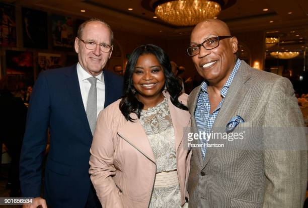 Richard Jenkins Octavia Spencer and Paris Barclay attend the 18th Annual AFI Awards at Four Seasons Hotel Los Angeles at Beverly Hills on January 5...