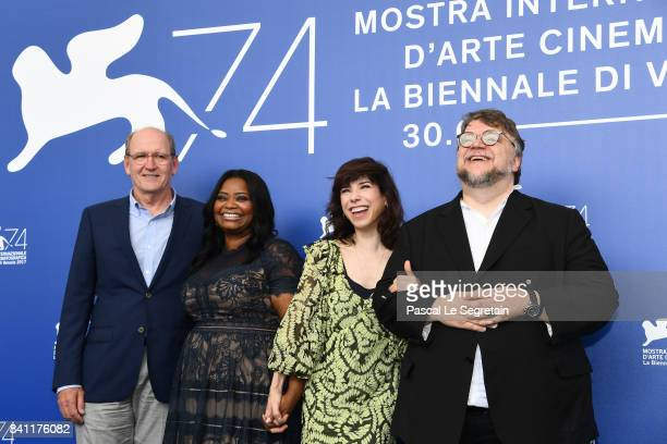Richard Jenkins Octavia Spencer Sally Hawkins and director Guillermo del Toro attend the 'The Shape Of Water' photocall during the 74th Venice Film...