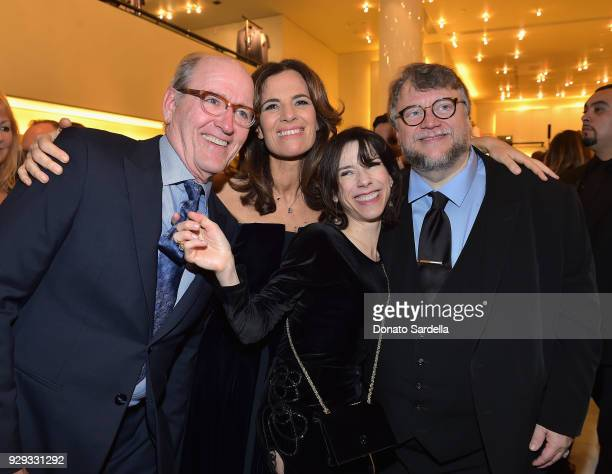 Richard Jenkins Roberta Armani Sally Hawkins and Guillermo Del Toro attend Giorgio Armani's celebration of 'The Shape of Water' hosted by Roberta...