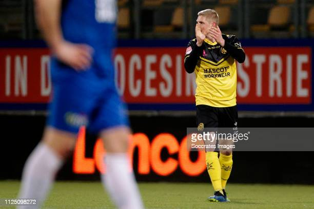 Richard Jensen of Roda JC during the Dutch Keuken Kampioen Divisie match between Roda JC v SC Cambuur at the Parkstad Limburg Stadium on February 15...