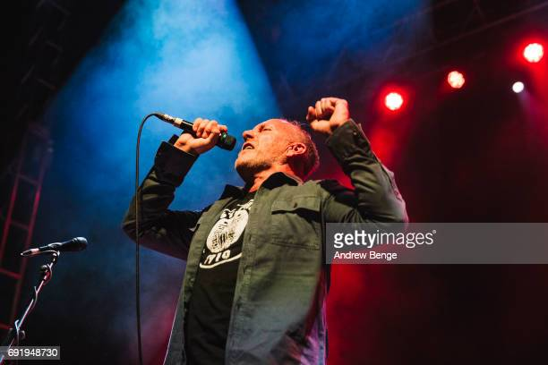 Richard Jobson of The Skids performs at O2 Academy Leeds on June 3, 2017 in Leeds, England.