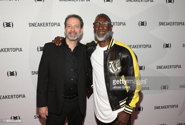 Richard Joel and Steve Harris Sneakertopia CEO Cofounder attend the Sneakertopia Los Angeles VIP Preview at HHLA on October 24 2019 in Los Angeles...