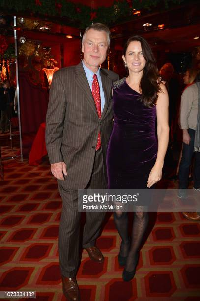 Richard Johnson and Sessa von Richthofen attend George Farias Anne Jay McInerney Host A Holiday Party at The Doubles Club on December 13 2018 in New...