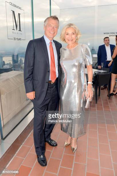 Richard Johnson and Susan Magrino attend Magrino PR 25th Anniversary at Bar SixtyFive at Rainbow Room on July 25 2017 in New York City