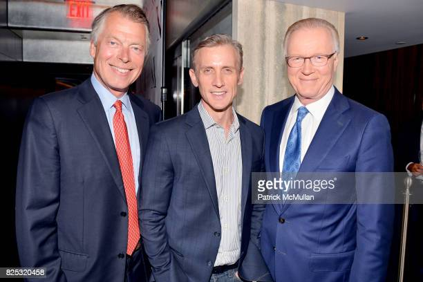 Richard Johnson Dan Abrams and Chuck Scarborough attend Magrino PR 25th Anniversary at Bar SixtyFive at Rainbow Room on July 25 2017 in New York City