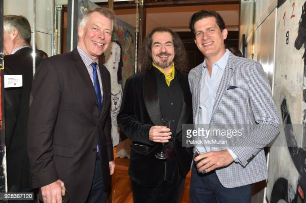 Richard Johnson Douglas Dechert and Lionel von Richthofen attend the Ati Sedgwick Private Preview at The VFGI Townhouse Gallery on March 6 2018 in...
