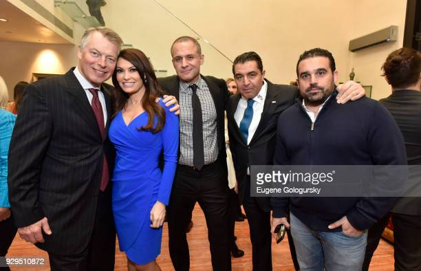 Richard Johnson Kimberly Guilfoyle Ronn Torossian Paolo Zampolli and Seth Semilof attend the Ambassador Paolo Zampolli Reception on March 8 2018 in...
