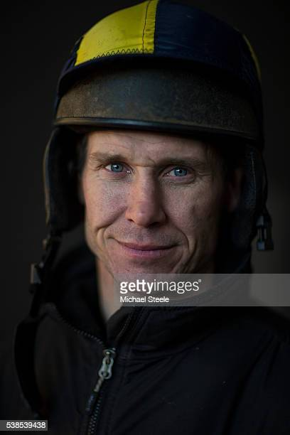 Richard Johnson poses for a portrait at Sandhill Racing Stables on January 20 2016 in Minehead England Sandhill Racing Stables set in 500 hundred...