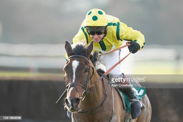 Richard Johnson riding Atlanta Ablaze clear the last to win The eventmasterscouk Lady Godiva Mares' Novices' Chase at Warwick Racecourse on December...