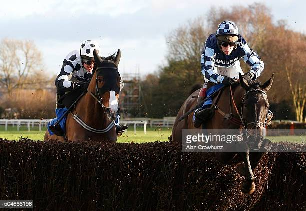 Richard Johnson riding Garde La Victoire clear the second last to win The Racing UK Winter Season Ticket Novices' Chase to give the jockey his 3000th...