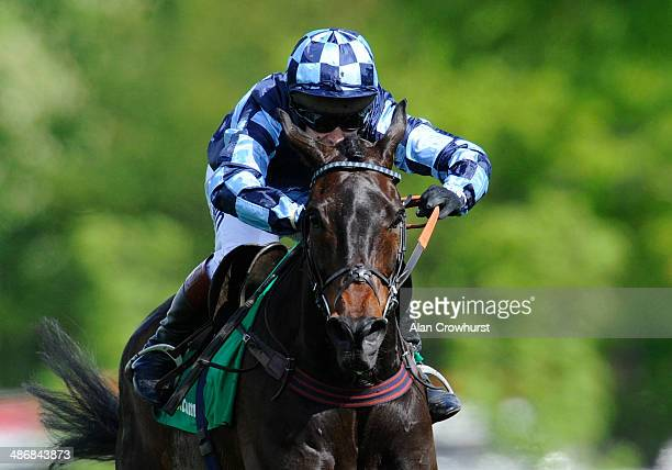 Richard Johnson riding Menorah clear the last to win The bet365 Oaksey Steeple Chase at Sandown racecourse on April 26 2014 in Esher England