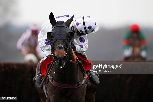 Richard Johnson riding Royal Regatta clear the last to win The GL Events Owen Brown Graduation Steeple Chase at Ascot racecourse on December 19 2015...