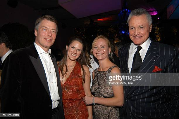Richard Johnson Sessa von Richthofen and Chuck Pfeiffer attend Vanity Fair Oscar Party at Morton's Restaurant on February 27 2005 in Los Angeles...