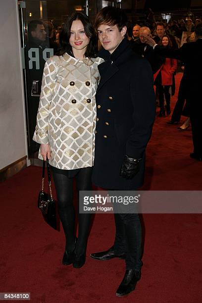 Richard Jones and Sophie Ellis Bextor attend the UK premiere of 'Revolutionary Road' held at the Odeon Leicester Square on January 18 2009 in London...