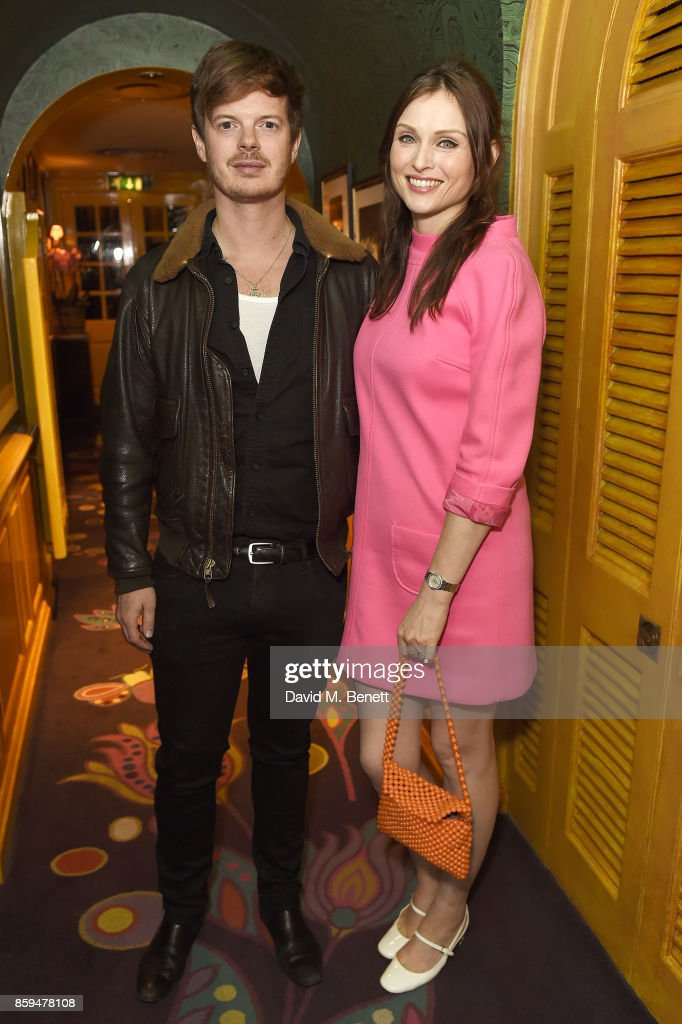Richard Jones (L) and Sophie Ellis-Bextor attend the Conde Nast Traveller 20th anniversary party at Vogue House on October 9, 2017 in London, England.