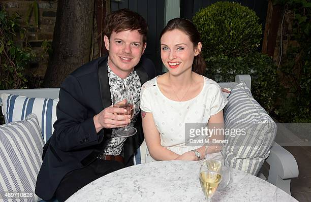 Richard Jones and Sophie EllisBextor attend The Ivy Chelsea Garden launch party at The Ivy Chelsea Garden on April 14 2015 in London England