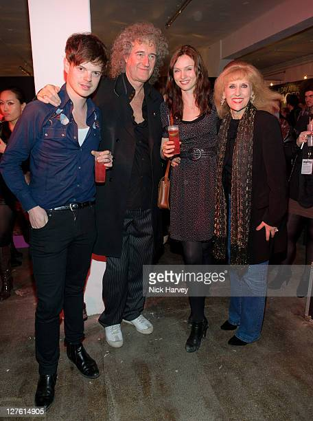 Richard Jones Brian May Sophie EllisBextor and Anita Dobson attend the Private View of Queen Stormtroopers In Stilettos on February 24 2011 in London...