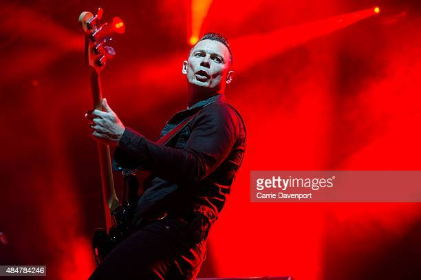 Richard Jones of Stereophonics performs onstage at Custom House Square on August 21 2015 in Belfast Northern Ireland