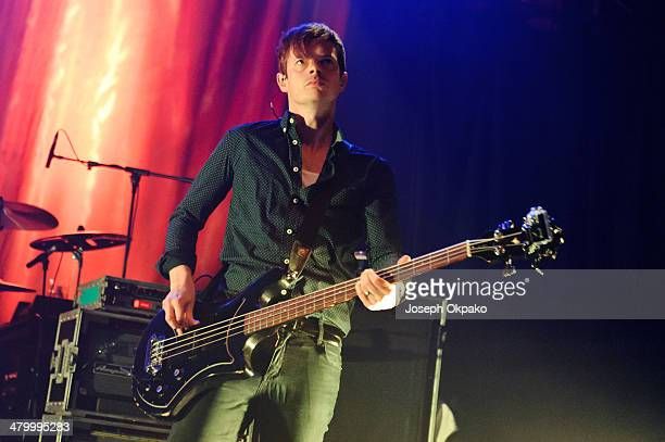 Richard Jones of The Feeling performs at KOKO on March 21 2014 in London England