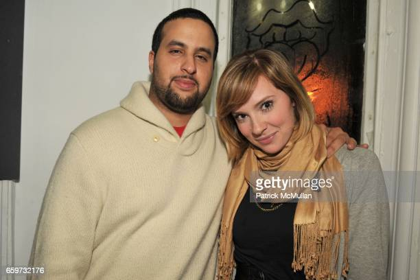 Richard Kallamni and Jessica Dube attend NOT FADE AWAY Gallery Opening at 901 Broadway on March 3 2009 in New York