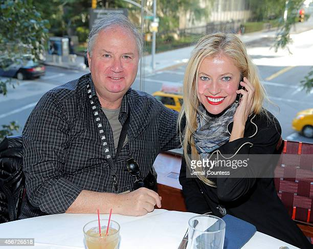 Richard Kandel and Anna Kulinova attend the Filmmaker Brunch during the 52nd New York Film Festival at Rosa Mexicana on October 5 2014 in New York...