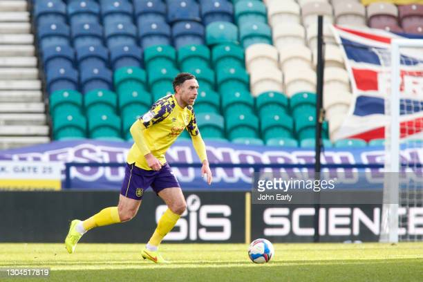 Richard Keogh of Huddersfield Town during the Sky Bet Championship match between Preston North End and Huddersfield Town at Deepdale on February 27,...
