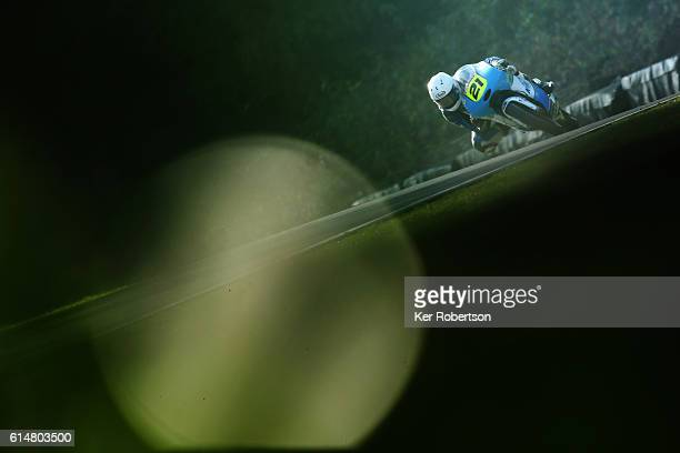 Richard Kerr of North West Racing KTM competes in the British Motostar Championship at Brands Hatch on October 15 2016 in Longfield England