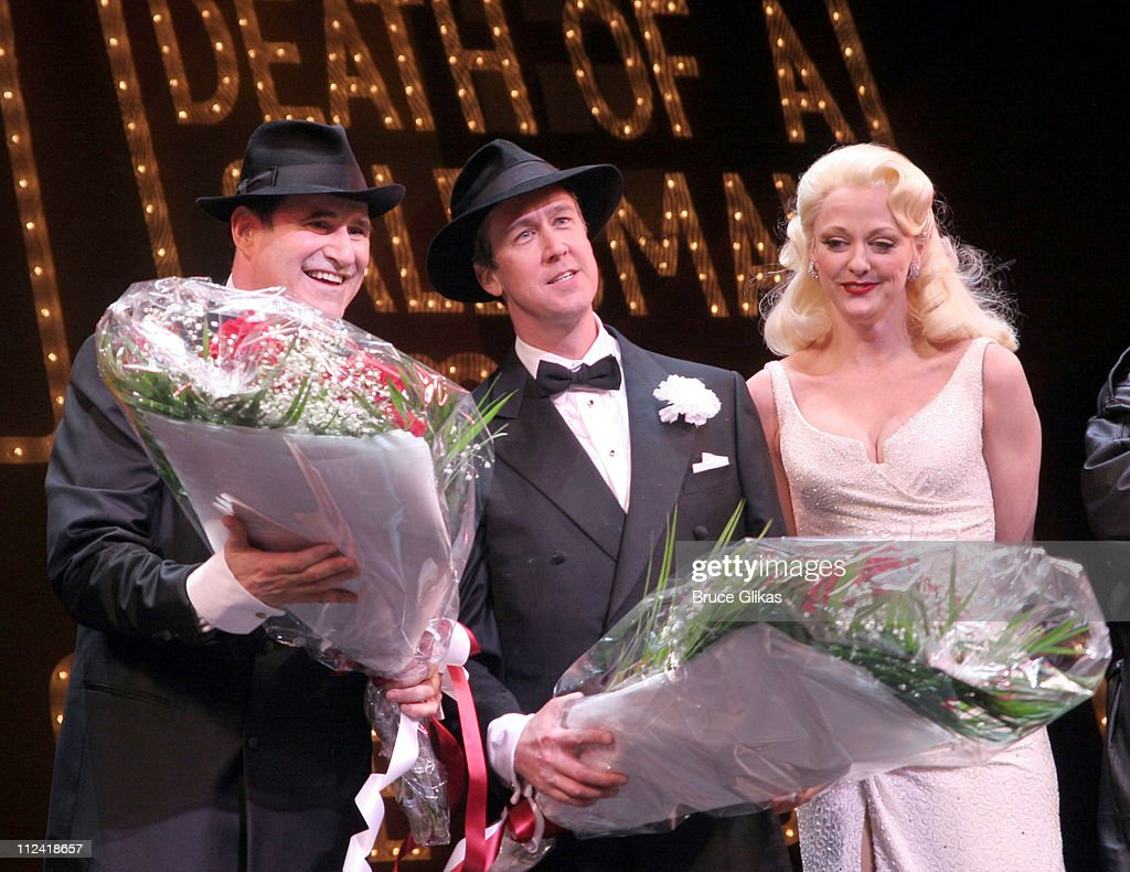 """The Cast of """"The Producers"""" Welcome Richard Kind and Alan Ruck of """"Spin City"""" to Broadway : News Photo"""