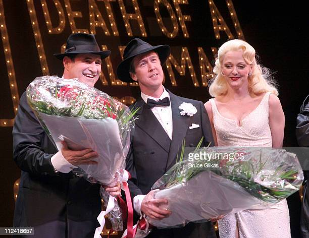 Richard Kind Alan Ruck and Angie Schworer during The Cast of 'The Producers' Welcome Richard Kind and Alan Ruck of 'Spin City' to Broadway at The St...