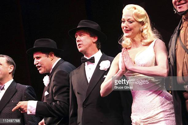 Richard Kind Alan Ruck and Angie Schworer during 'The Producers' Celebrate Their 4th Anniversary on Broadway at St James Theater in New York City New...