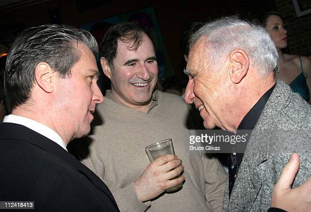 Richard Kind Alan Ruck and Mel Brooks during The Cast of 'The Producers' Welcome Richard Kind and Alan Ruck of 'Spin City' to Broadway at The St...