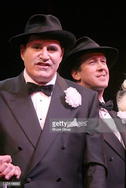 Richard Kind and Alan Ruck during The Cast of 'The Producers' Welcome Richard Kind and Alan Ruck of 'Spin City' to Broadway at The St James Theater...