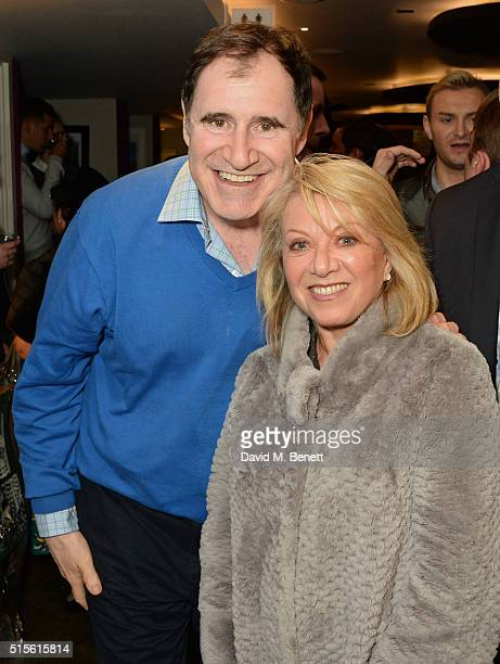 Richard Kind and Elaine Paige attend the press night after party for 'Miss Atomic Bomb' at the St James Theatre on March 14 2016 in London England