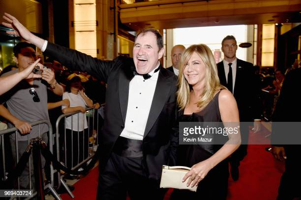 Richard Kind and Jennifer Aniston attend the American Film Institute's 46th Life Achievement Award Gala Tribute to George Clooney at Dolby Theatre on...