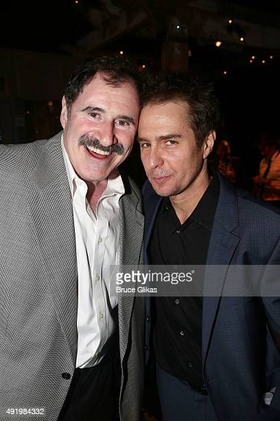 Richard Kind and Sam Rockwell pose at The Opening Night for the MTC production of Sam Shepard's 'Fool For Love' on Broadway at Urbo NYC on October 8...